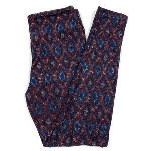 Lularoe Tie Dye Red White Blue OS Leggings